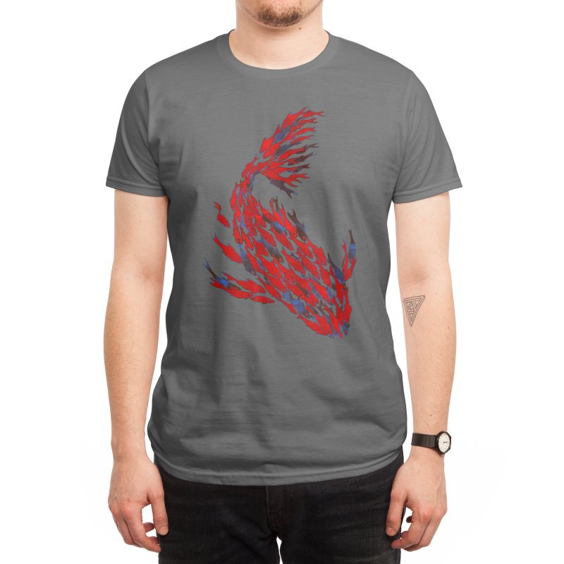 School Of Fish And Balance Men's T-Shirt by BVRDTO