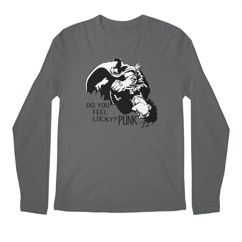Batman - Do You Feel Lucky Punk? Men's Longsleeve T-Shirt by Bware Clothing's Shop