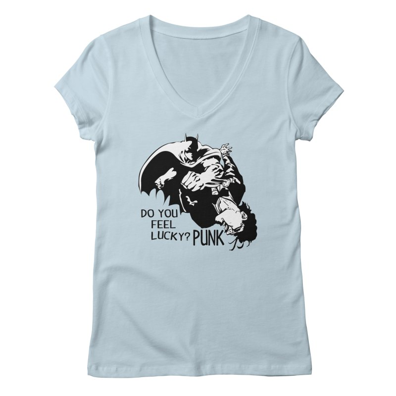 Batman - Do You Feel Lucky Punk? Women's V-Neck by Bware Clothing's Shop