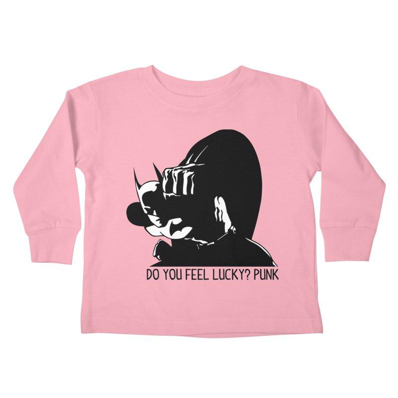 Batman - Do You Feel Lucky Punk? First Hit Kids Toddler Longsleeve T-Shirt by Bware Clothing's Shop
