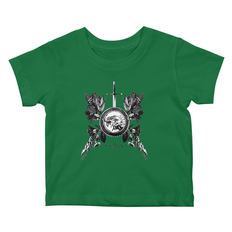 House Stark Shield Kids Baby T-Shirt by Bware Clothing's Shop