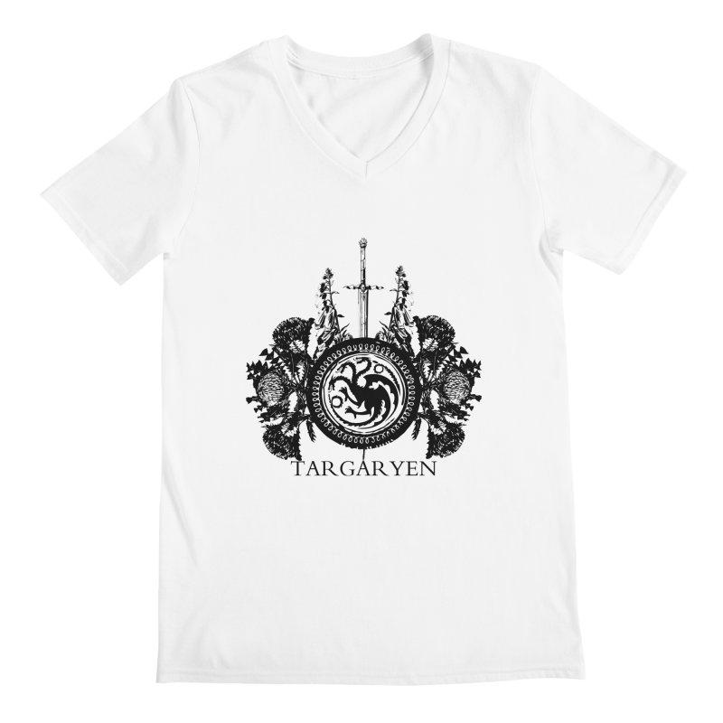 House Targaryen Men's V-Neck by Bware Clothing's Shop