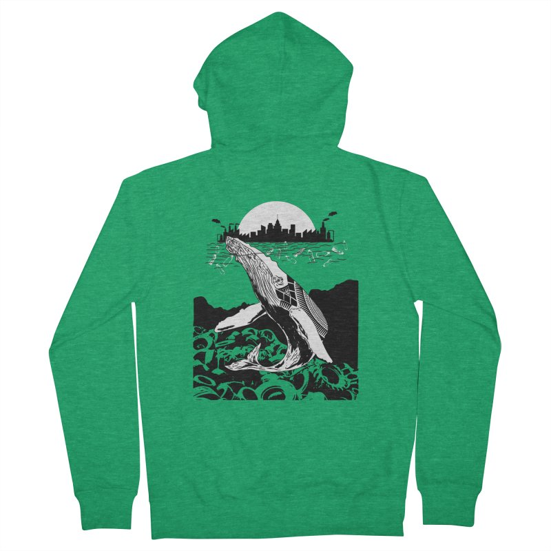 Too Much Pollution Women's Zip-Up Hoody by Bware Clothing's Shop
