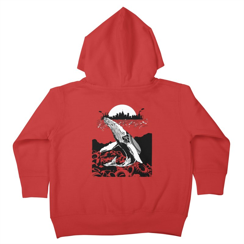 Too Much Pollution Kids Toddler Zip-Up Hoody by Bware Clothing's Shop