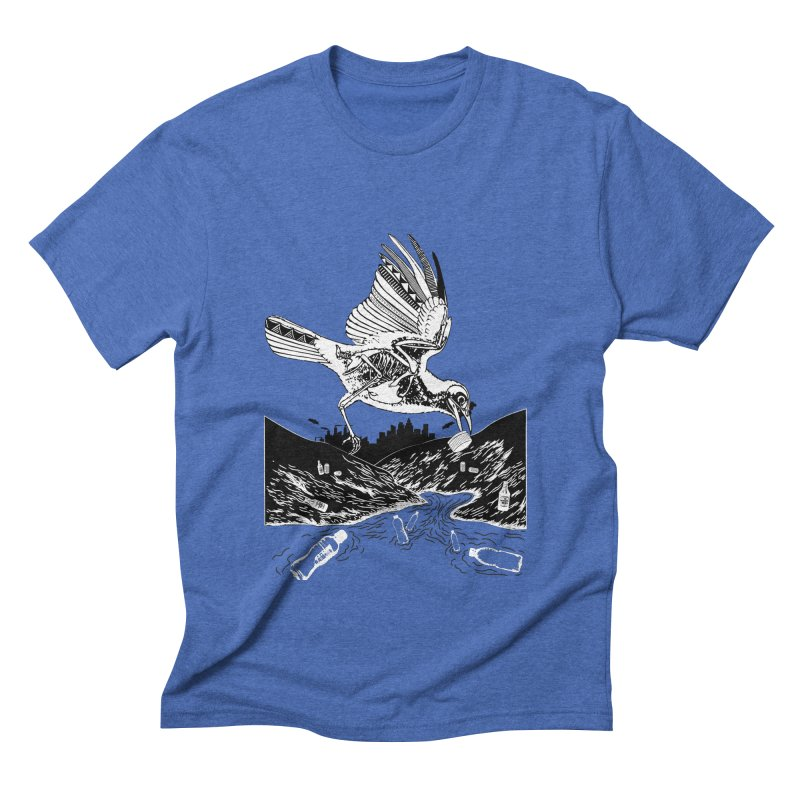 Bird Eating Plastic Men's T-Shirt by Bware Clothing's Shop
