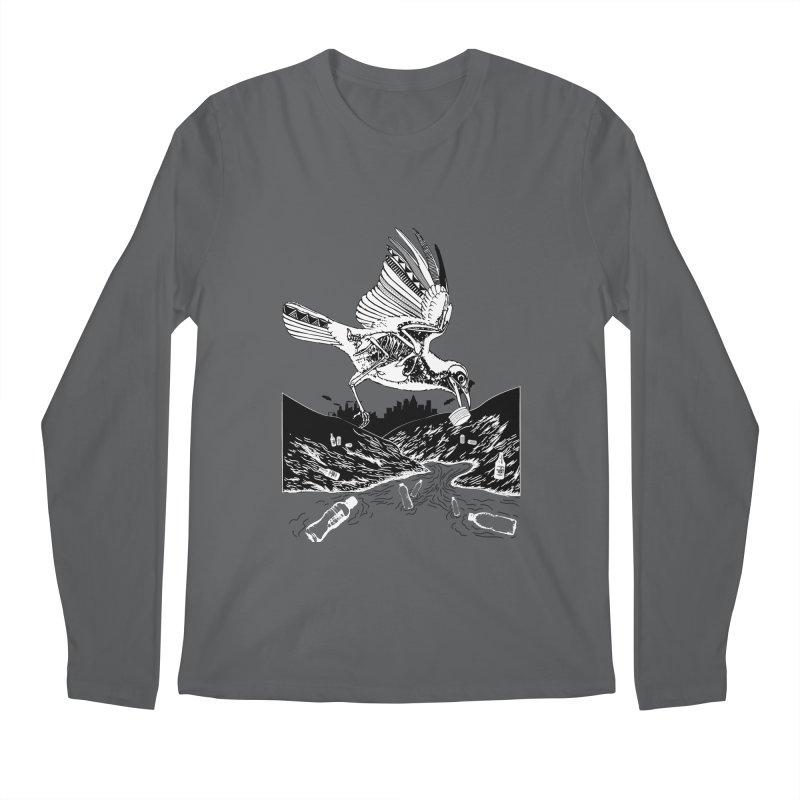 Bird Eating Plastic Men's Longsleeve T-Shirt by Bware Clothing's Shop