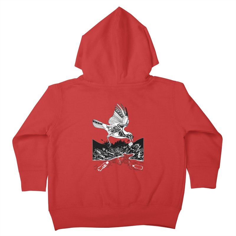 Bird Eating Plastic Kids Toddler Zip-Up Hoody by Bware Clothing's Shop