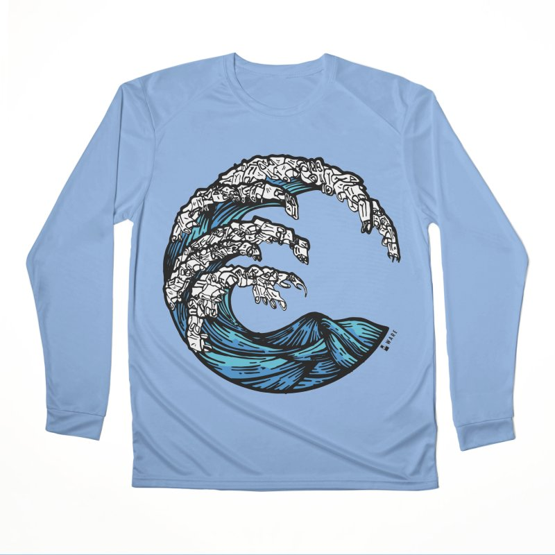 Waves of Rubbish Men's Longsleeve T-Shirt by Bware Clothing's Shop