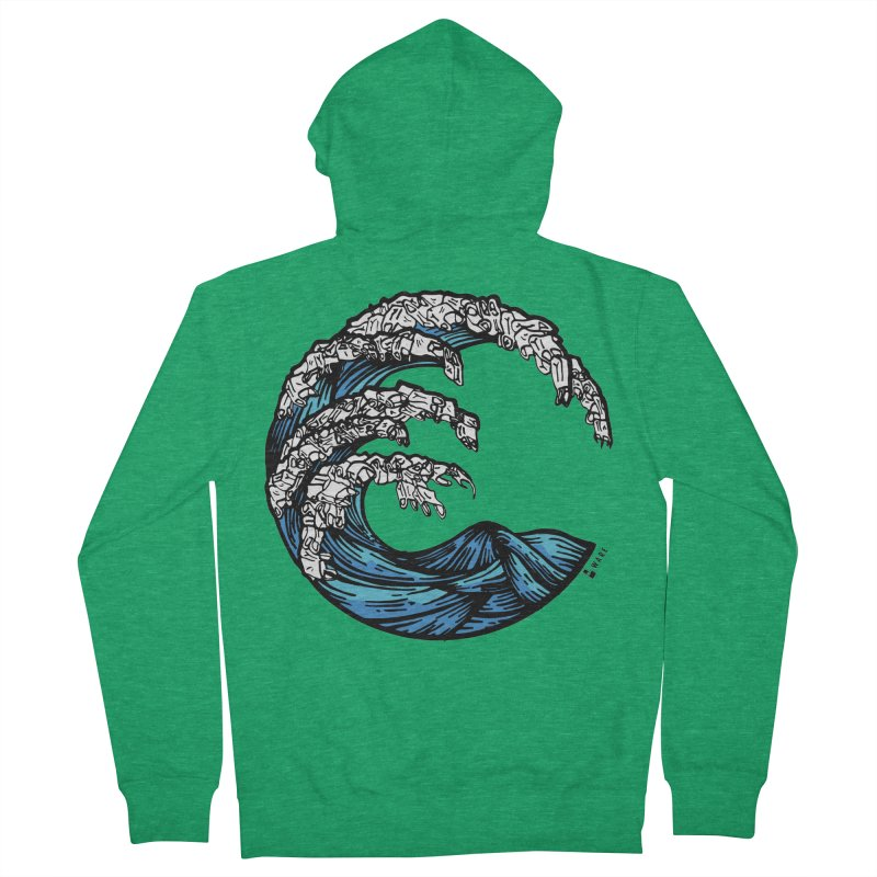 Waves of Rubbish Women's Zip-Up Hoody by Bware Clothing's Shop
