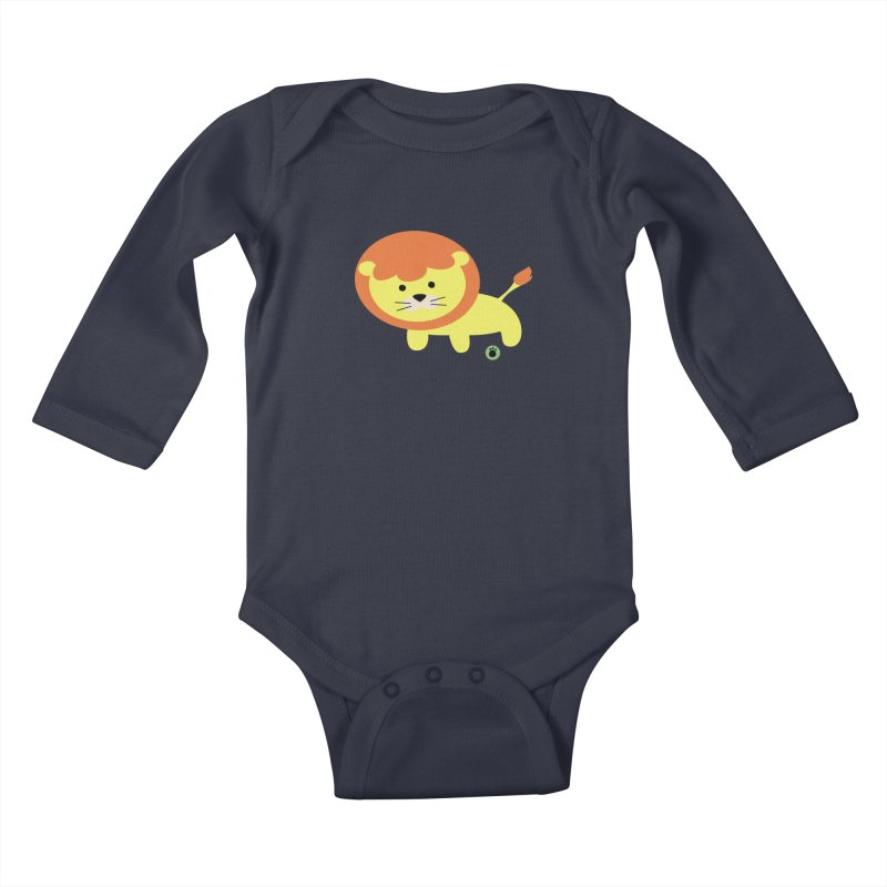 Spell Bear's Lion Kids Baby Longsleeve Bodysuit by Bware Clothing's Shop