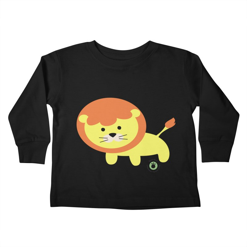 Spell Bear's Lion Kids Toddler Longsleeve T-Shirt by Bware Clothing's Shop