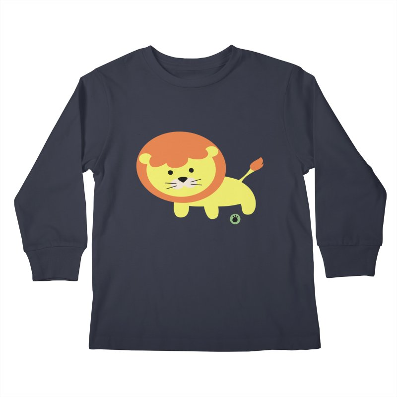 Spell Bear's Lion Kids Longsleeve T-Shirt by Bware Clothing's Shop