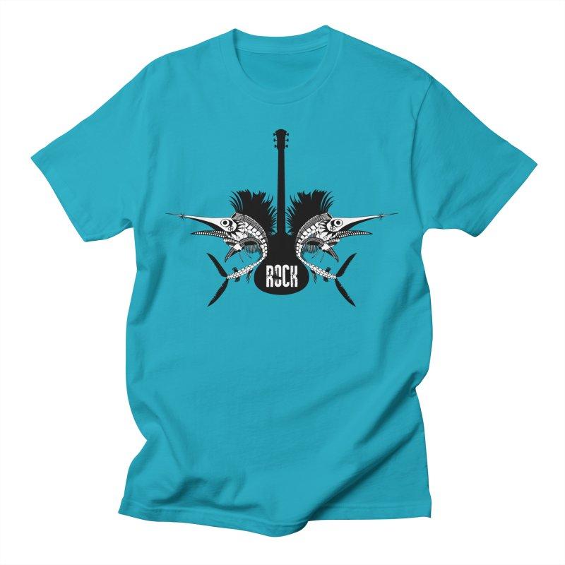 Punk Rock Swordfish Men's T-Shirt by Bware Clothing's Shop