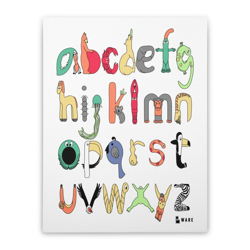 Lowercase English Animal Alphabet Home Stretched Canvas by Bware Clothing's Shop
