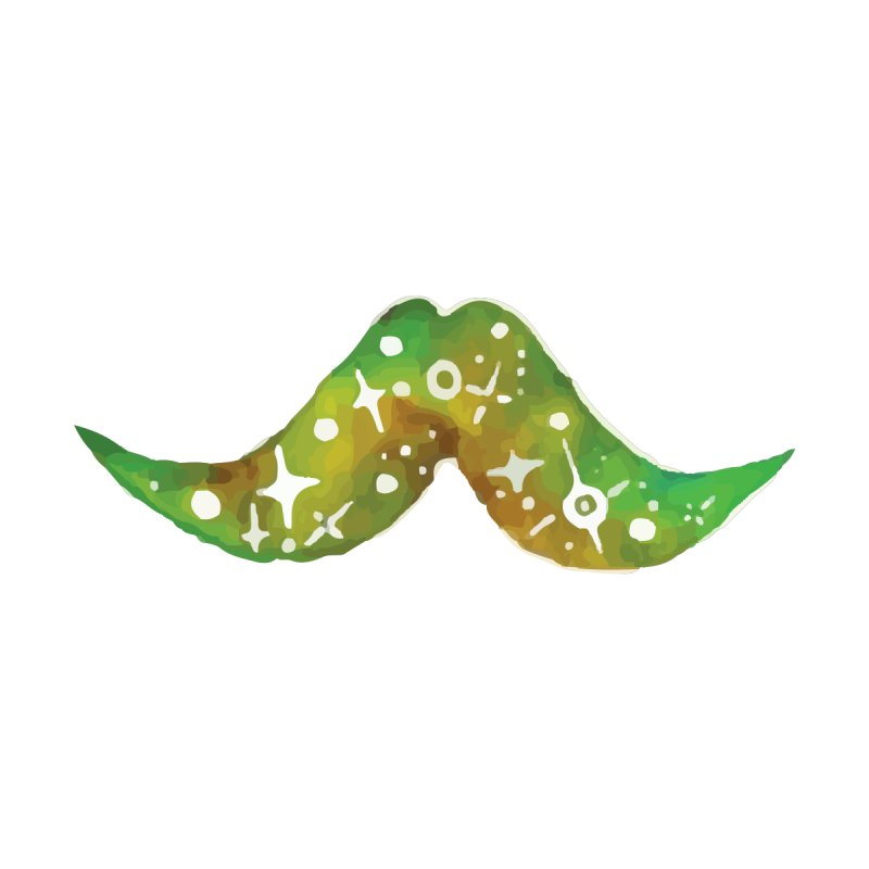 Green Space Mustache by By Arielle's Artist Shop