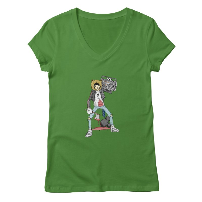 furry killing furry Women's V-Neck by bybred's Artist Shop