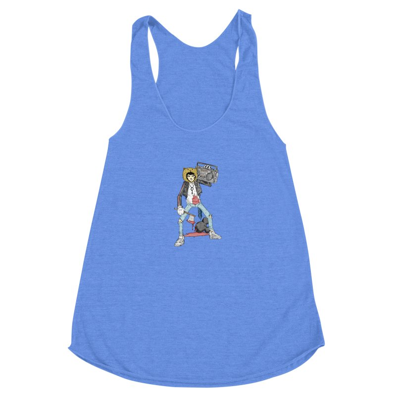 furry killing furry Women's Racerback Triblend Tank by bybred's Artist Shop