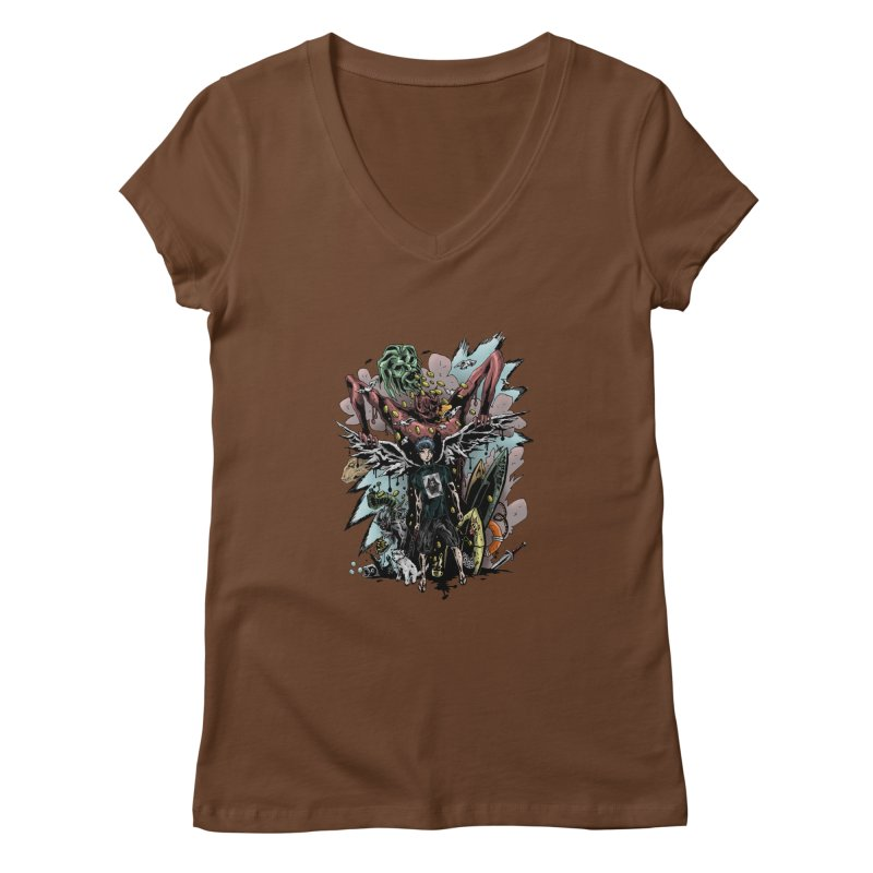 Gifts and Curses Women's V-Neck by bybred's Artist Shop