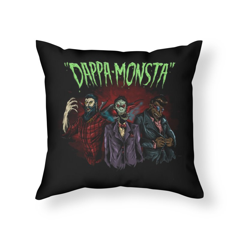 Dappa Monsta Home Throw Pillow by bybred's Artist Shop