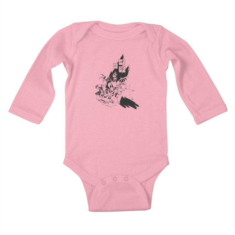 Key Kids Baby Longsleeve Bodysuit by bybred's Artist Shop