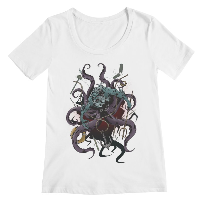 Naughty-cal Women's Scoopneck by bybred's Artist Shop