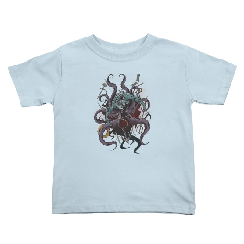 Naughty-cal Kids Toddler T-Shirt by bybred's Artist Shop