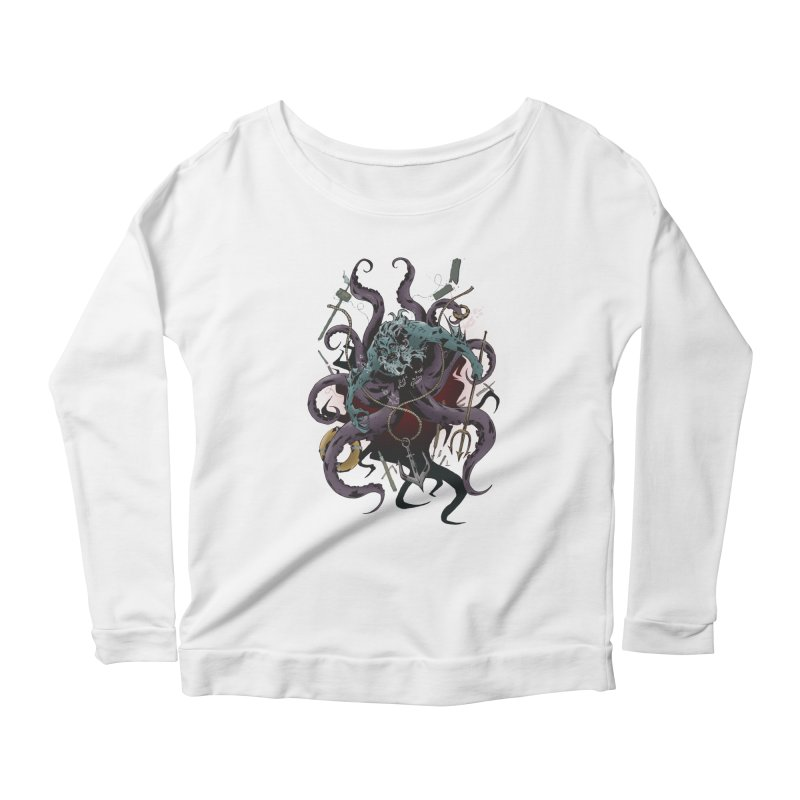 Naughty-cal Women's Longsleeve Scoopneck  by bybred's Artist Shop
