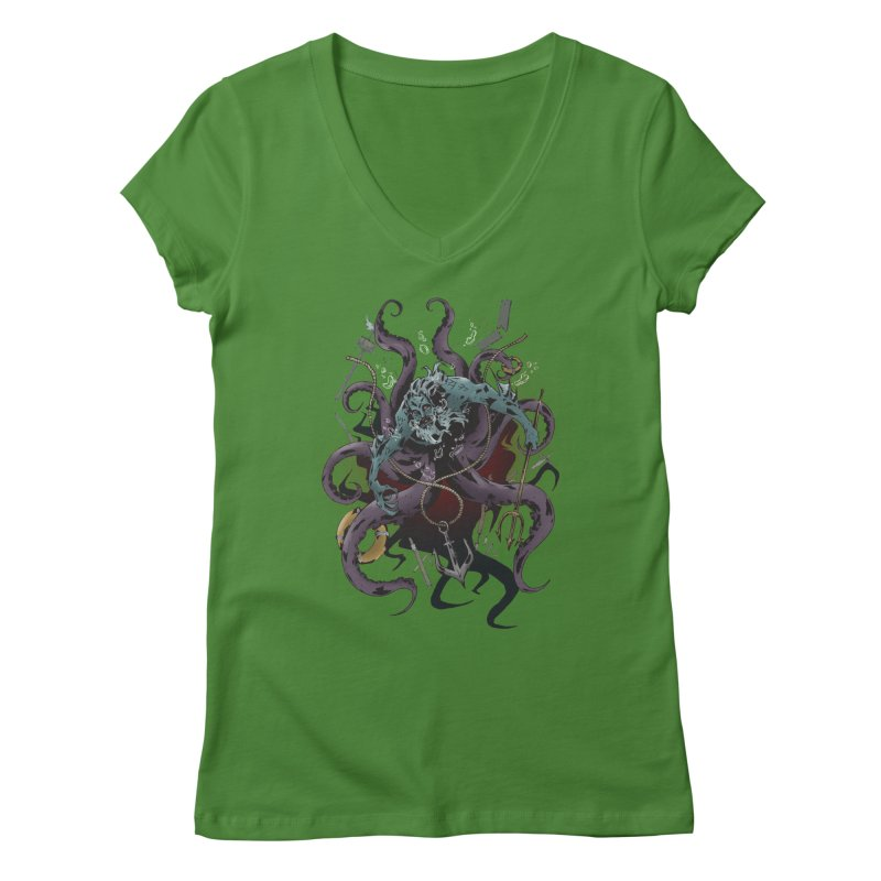 Naughty-cal Women's V-Neck by bybred's Artist Shop