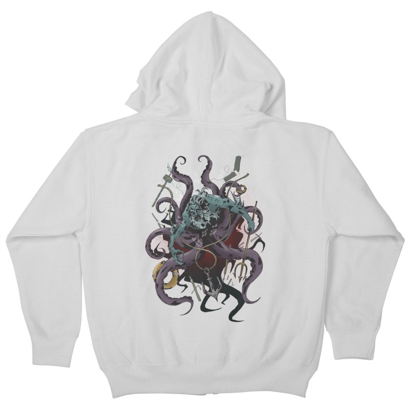 Naughty-cal Kids Zip-Up Hoody by bybred's Artist Shop