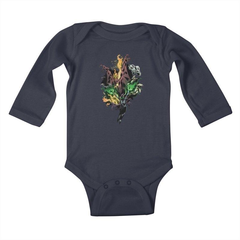 Summoning Kids Baby Longsleeve Bodysuit by bybred's Artist Shop