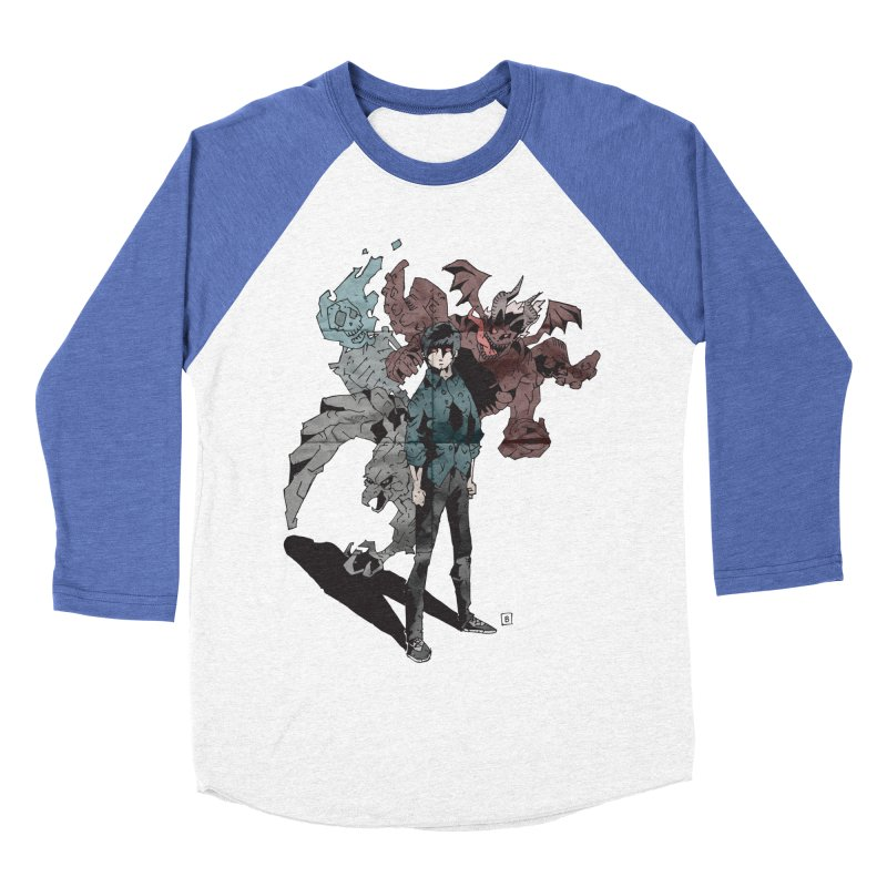 Devil in me Men's Baseball Triblend T-Shirt by bybred's Artist Shop