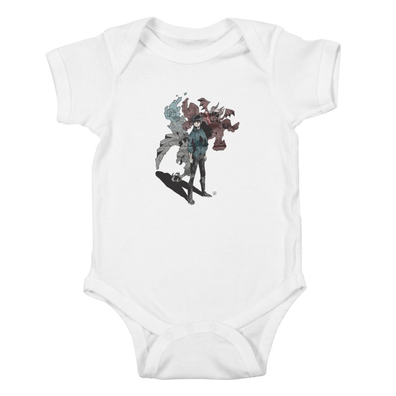 Devil in me Kids Baby Bodysuit by bybred's Artist Shop