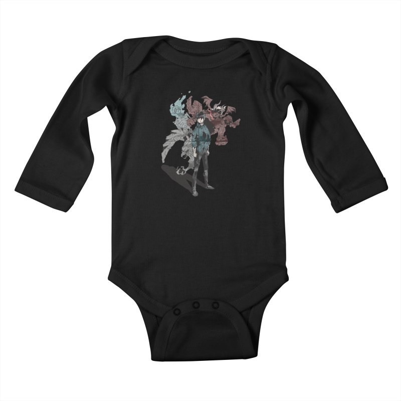 Devil in me Kids Baby Longsleeve Bodysuit by bybred's Artist Shop