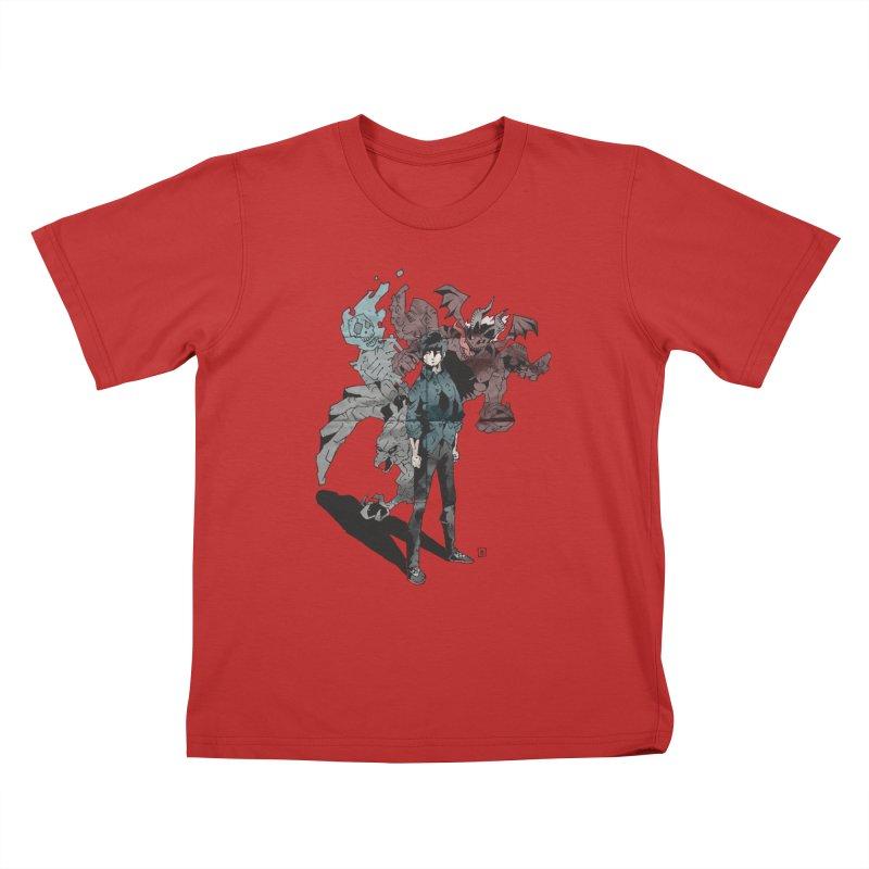 Devil in me Kids T-Shirt by bybred's Artist Shop
