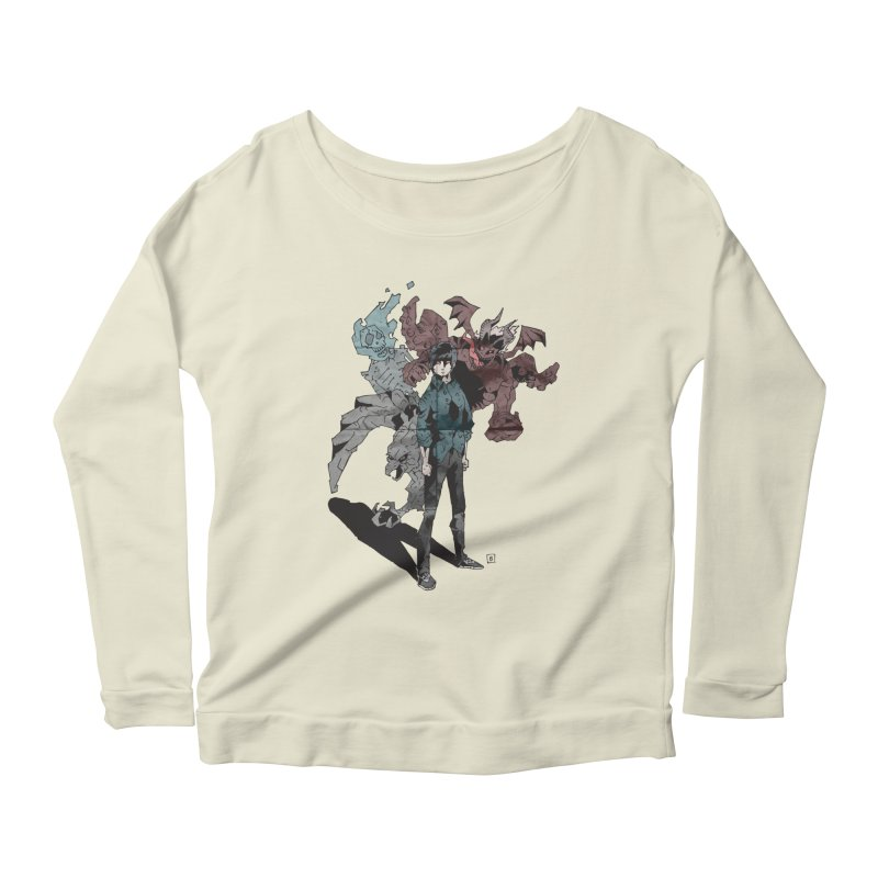 Devil in me Women's Longsleeve Scoopneck  by bybred's Artist Shop