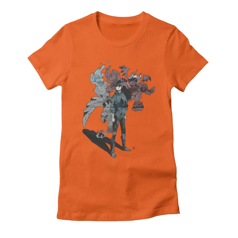 Devil in me Women's Fitted T-Shirt by bybred's Artist Shop