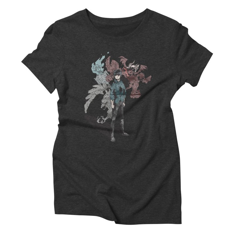 Devil in me Women's Triblend T-shirt by bybred's Artist Shop