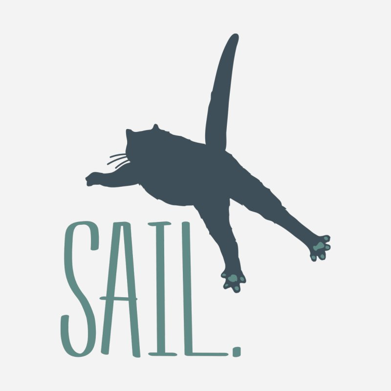 Sail Cat Shirt - Light Shirts by Jon Lynch's Artist Shop