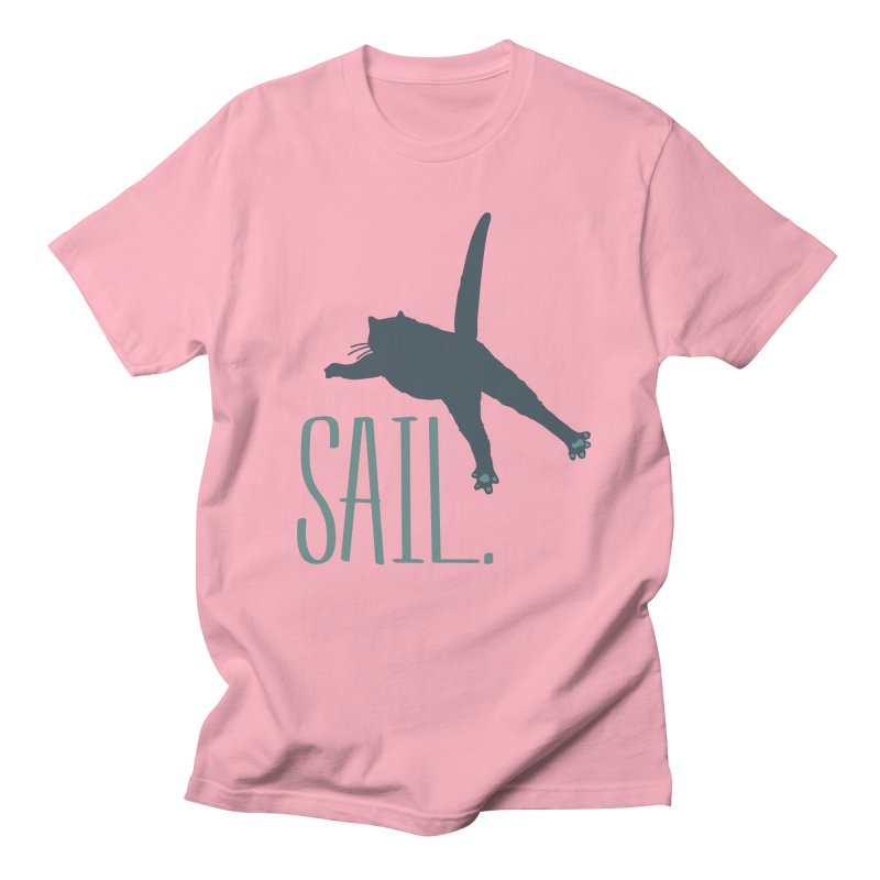 Sail Cat Shirt - Light Shirts Women's Regular Unisex T-Shirt by Jon Lynch's Artist Shop