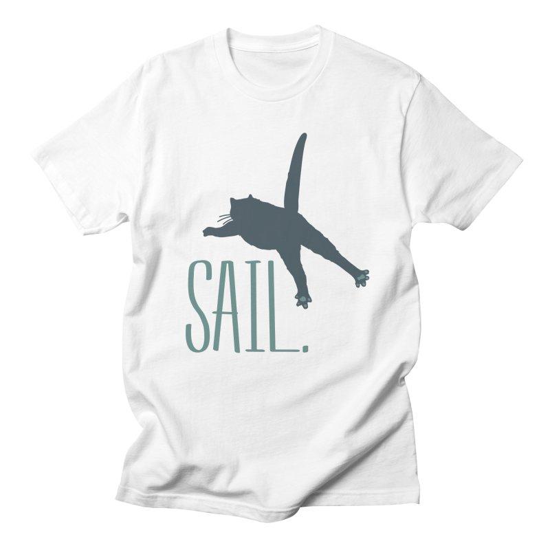 Sail Cat Shirt - Light Shirts Men's Regular T-Shirt by Jon Lynch's Artist Shop