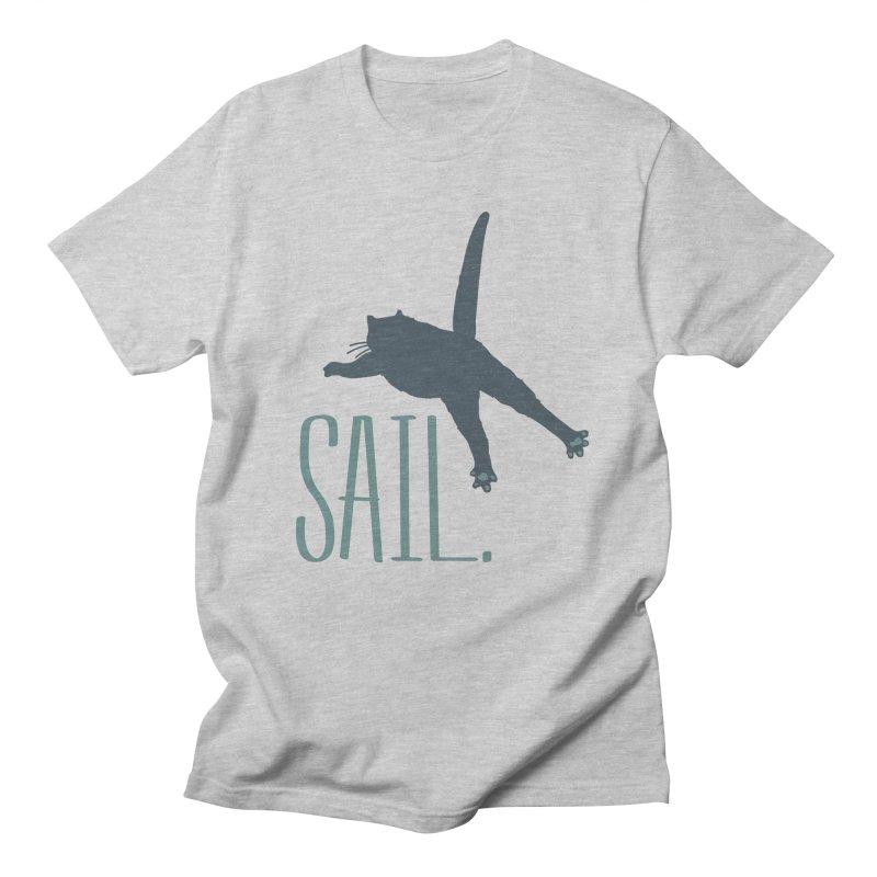 Sail Cat Shirt - Light Shirts Men's T-Shirt by Jon Lynch's Artist Shop