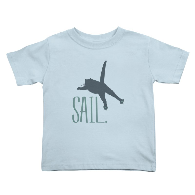 Sail Cat Shirt - Light Shirts Kids Toddler T-Shirt by Jon Lynch's Artist Shop