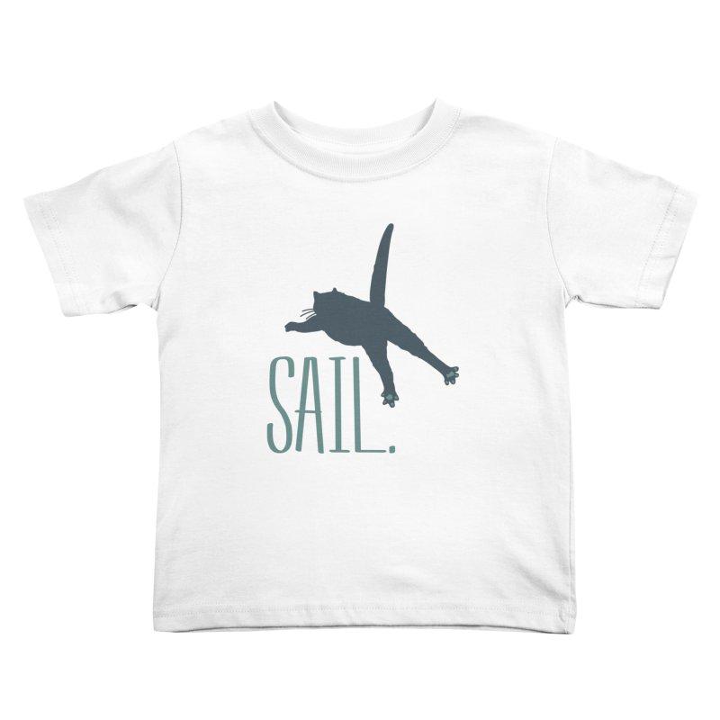 Sail Cat Shirt - Light Shirts Kids Toddler T-Shirt by Jon Lynch's Artist Shop