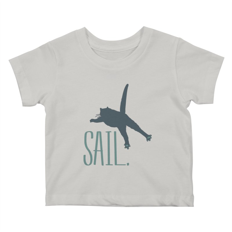 Sail Cat Shirt - Light Shirts Kids Baby T-Shirt by Jon Lynch's Artist Shop