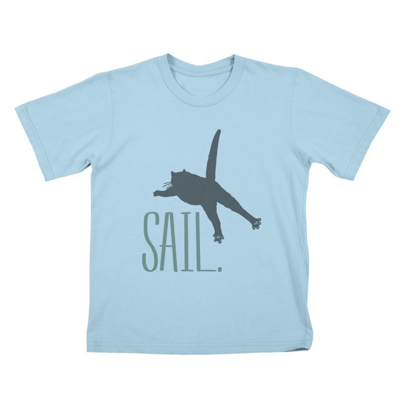 Sail Cat Shirt - Light Shirts Kids T-Shirt by Jon Lynch's Artist Shop