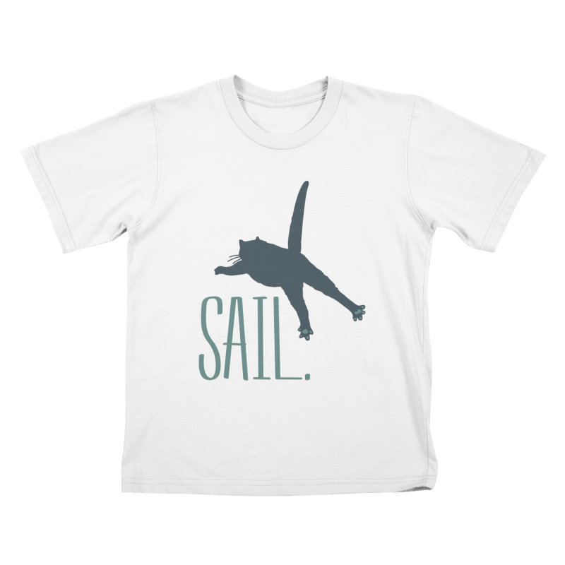 Sail Cat Shirt - Light Shirts Kids T-Shirt by Jon Lynch's Artist Shop