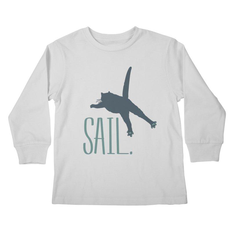 Sail Cat Shirt - Light Shirts Kids Longsleeve T-Shirt by Jon Lynch's Artist Shop