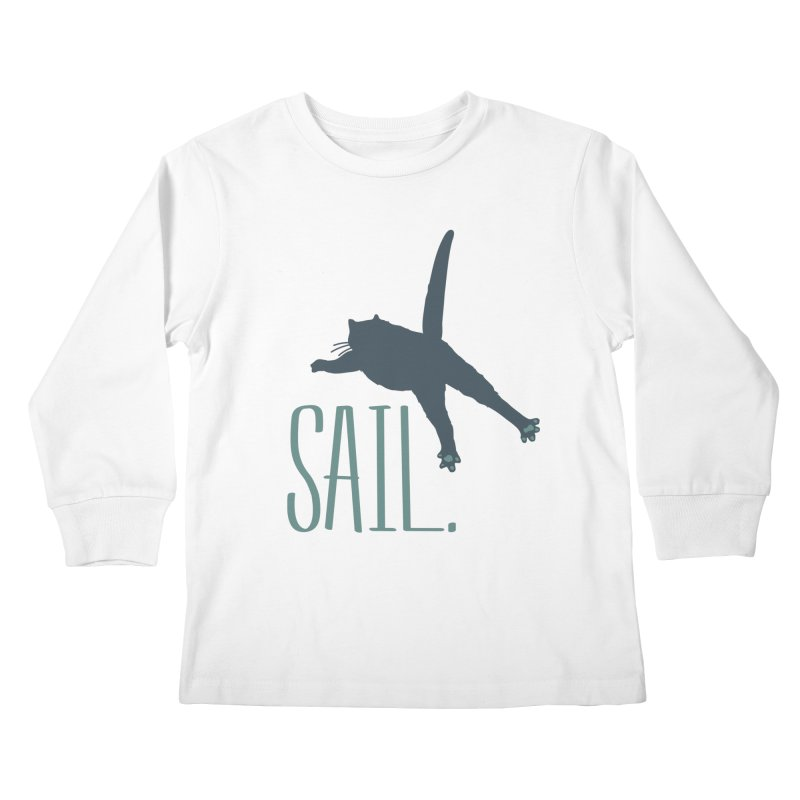 Sail Cat Shirt - Light Shirts Kids Longsleeve T-Shirt by Jon Lynch's Artist Shop