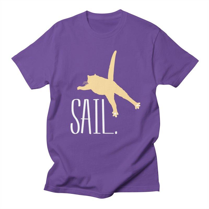 Sail Cat Shirt - Dark Shirts Men's T-Shirt by Jon Lynch's Artist Shop
