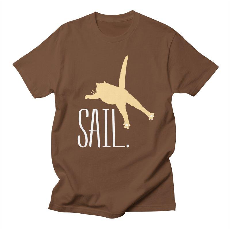 Sail Cat Shirt - Dark Shirts Women's Regular Unisex T-Shirt by Jon Lynch's Artist Shop